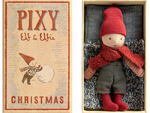 Maileg Pixy Elf in Box ,Winter 2020 Collection