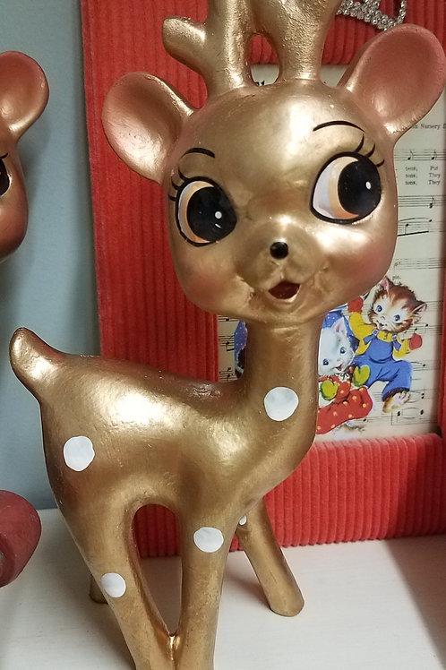 Retro Polka Dot Deer Figurine