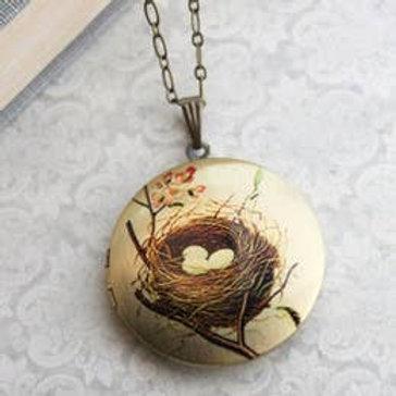 Birds Nest Locket