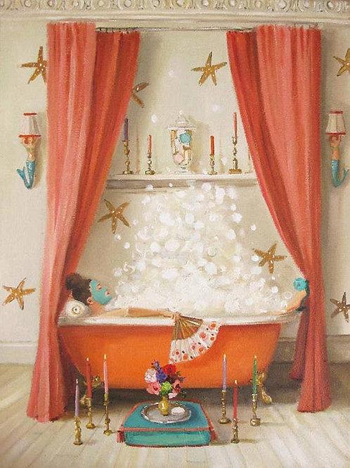 "Janet Hill Print:  Edwina's Bath, 11""x14"""