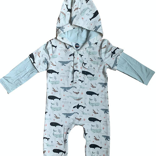 Under the Sea Hooded Coverall
