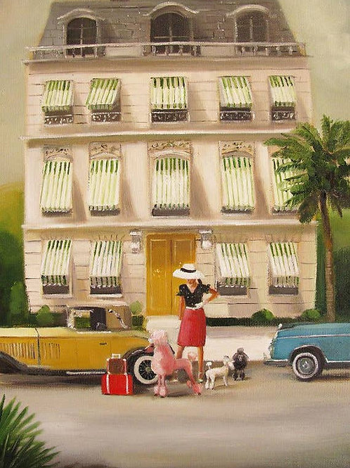 "Janet Hill Art Print:  Monte Carlo Summer, 8.5""x11"""