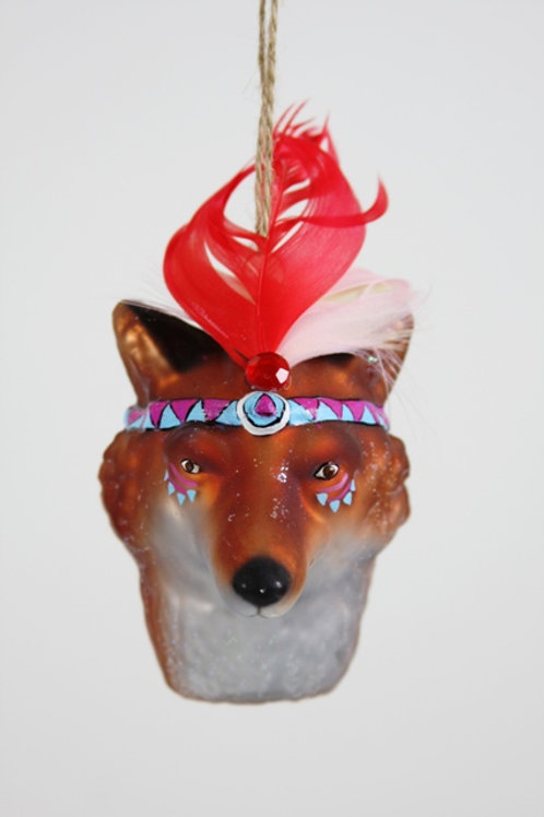 Cody Foster Fox Scout Glass Ornament