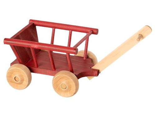 Red Wooden Wagon for Mice by Maileg