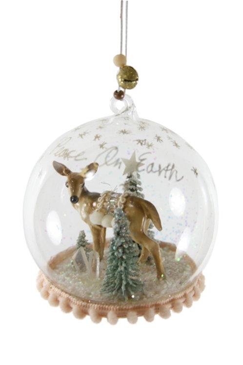 Winter Deer Globe Ornament