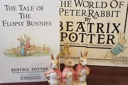 Flopsy, Mopsy and Cottontail: Beatrix Potter Figurine BP-11