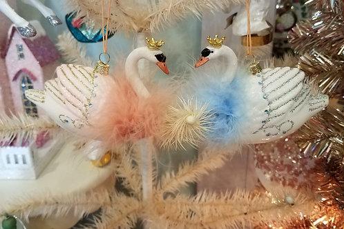 Crowned Swan Ornament