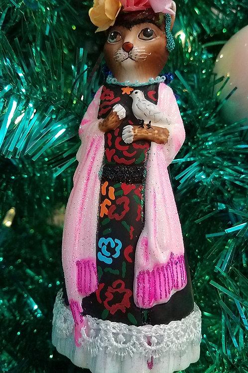 Well-Dressed  FRIDA CATLO Ornament