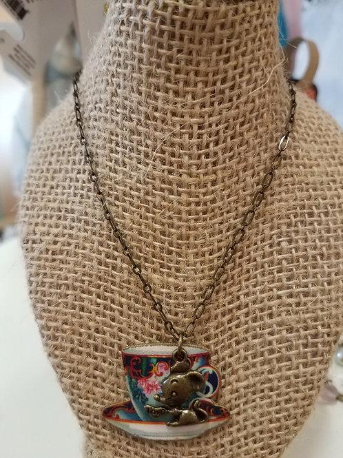 Teacup Mouse Necklace