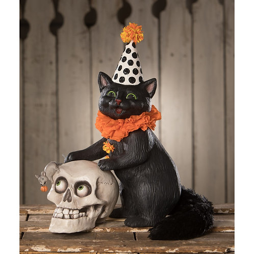 Purrfect Catch Cat with Skull