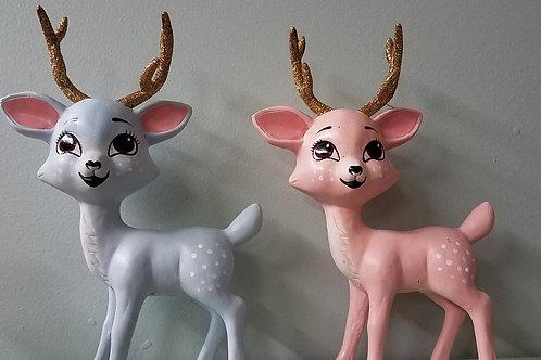 Retro Deer Figurine: Assorted Colors