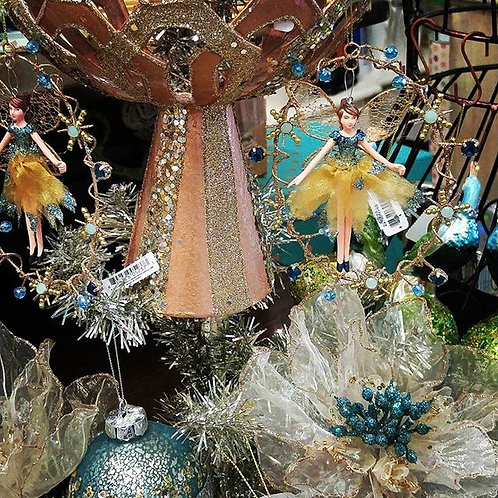 Katherine's Collection Blue Fairy Ornament