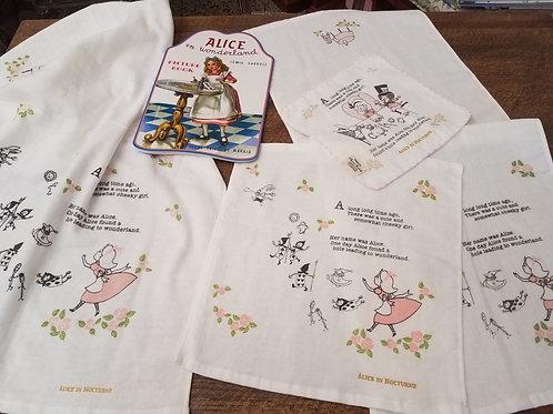 Shinzi Katoh Alice in Wonderland Storybook Linens 3 Piece Set
