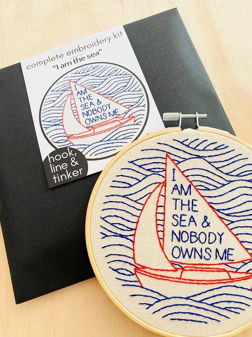 I am the Sea Embroidery Kit
