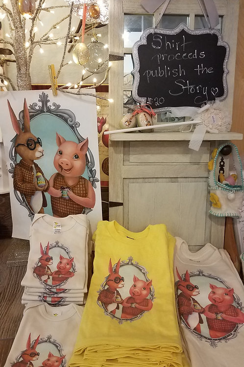 Pig & Bunny Brigade Natural Shirt or Onesie