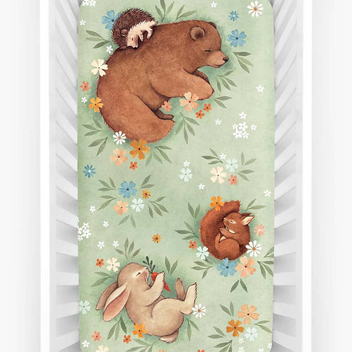 Enchanted Meadow Crib Sheet