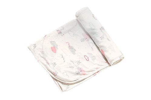 Baby Girl Arrival Bamboo Blanket