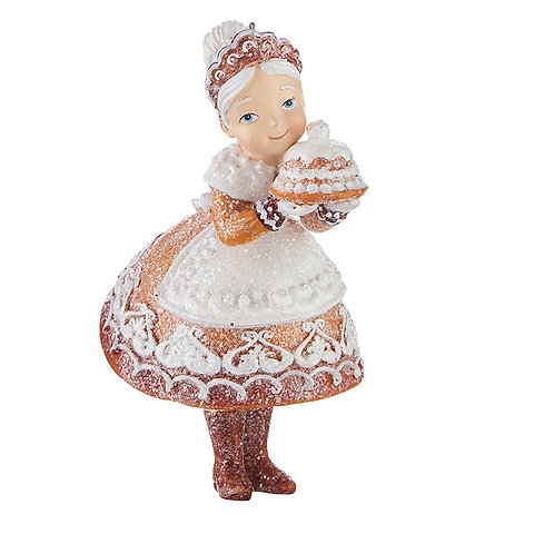 """5"""" GINGERBREAD  MRS. CLAUS  ORNAMENT"""