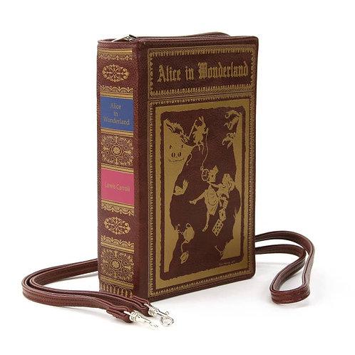 Alice in Wonderland Book Cross Body Handbag/Clutch