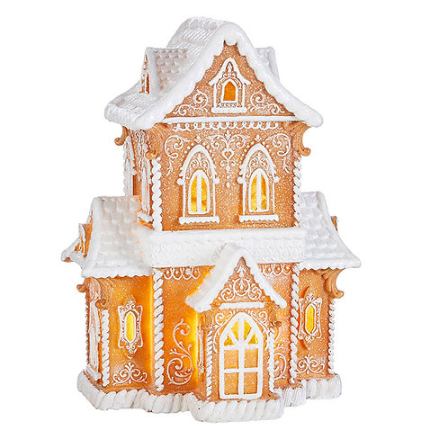 "14.5"" GINGERBREAD LIGHTED HOUSE"