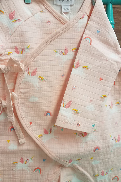 Unicorns Wrap Coverall- Newborn