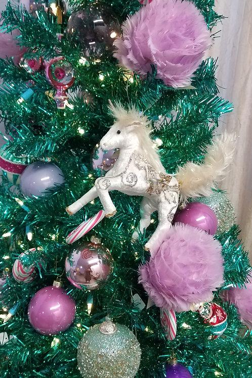 "Day Dreaming Fabric Unicorn Ornament-8"""