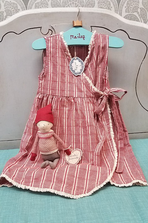 Maileg Vintage Apron Dress- Fits 2-3 year old