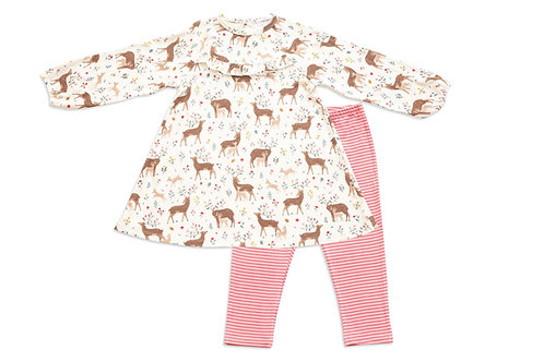Deer Dress & Leggings-Baby -Toddler