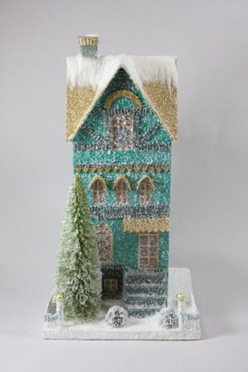 Holiday Teal Townhouse