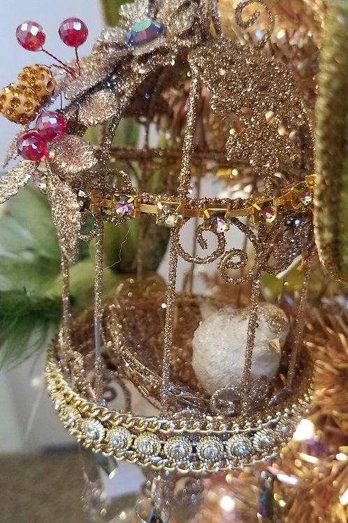 Katherine's Collection Bird Cage Round Ornament