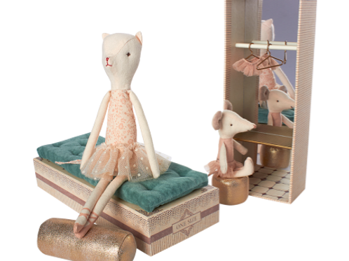 Cat & Mouse Ballerinas in Shoebox
