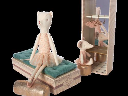Cat & Mouse Ballerinas in Shoebox