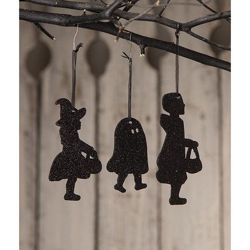 Silhouette Kids Ornaments-Set/3