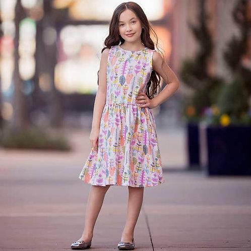 Pastel Feather Dress