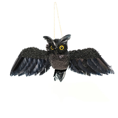 Bedazzled Owl Ornament