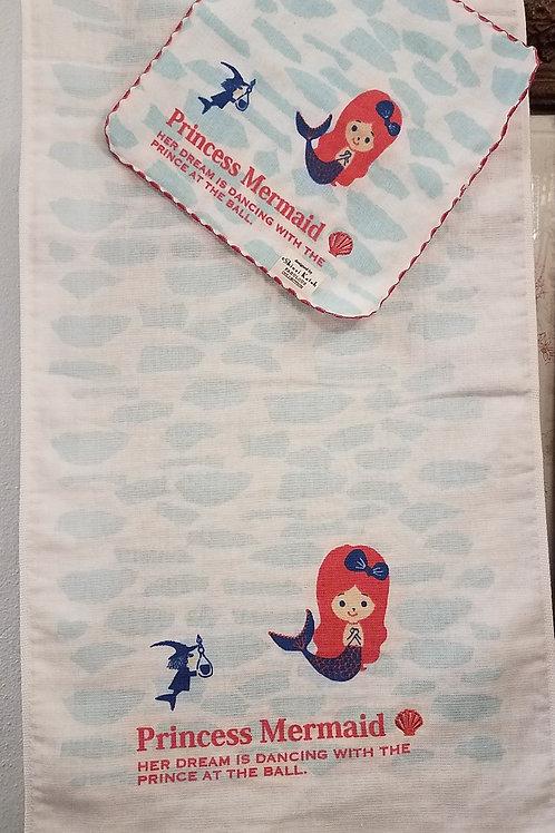 Shinzi Katoh Princess Mermaid Hand Towel  and Face Cloth Set