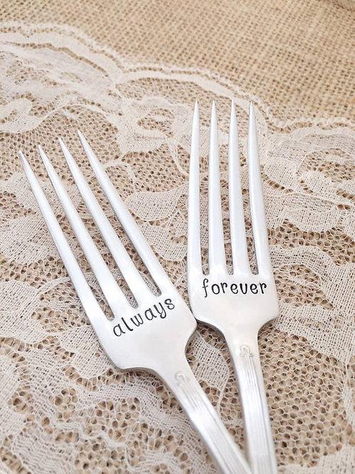 Always & Forever Vintage Forks