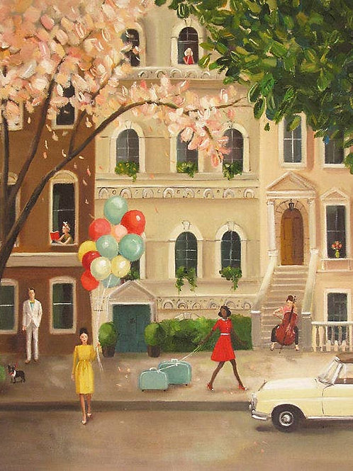 """Janet Hill Art Print:  A Day Off, 8.5""""x11"""""""