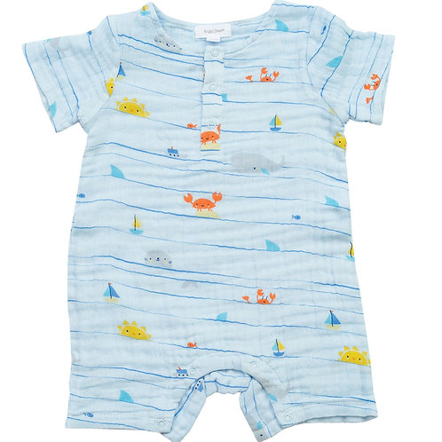 Angel Dear Sea Stripes Sleeveless Shortie Romper