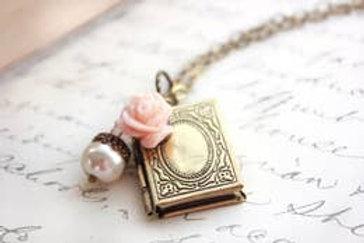 Petite Book Lover Locket Necklace