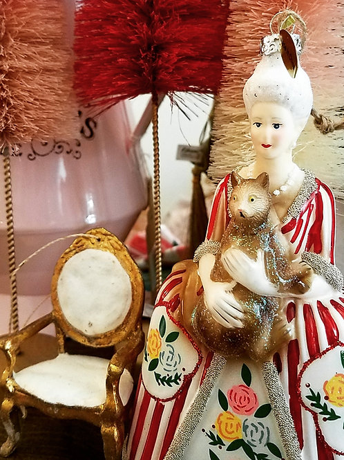 Mademoiselle and her Cat Ornament