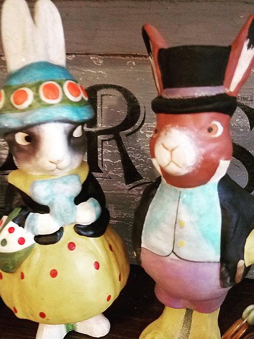 Dapper Bunny Couple