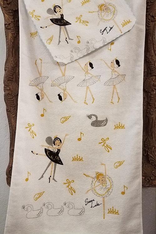 Shinzi Katoh Swan Lake Hand Towel  and Face Cloth Set