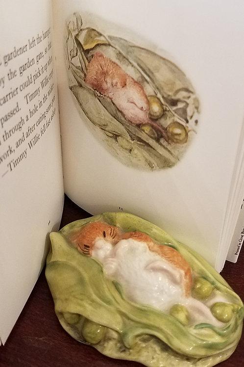 Timmy Willie Sleeping, Beatrix Potter Figurine BP6