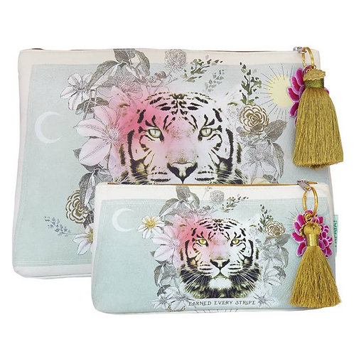 Papaya's Pink Tassel Pouches-Small Pouch