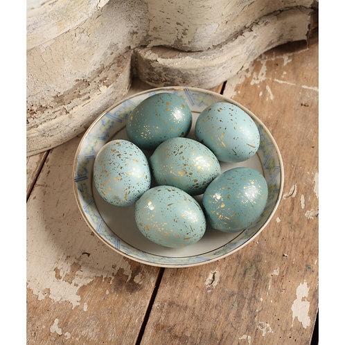 Aqua Eggs  Sets of 6: Bethany Lowe