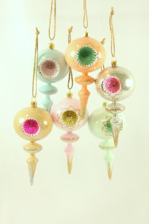 Cody Foster Set of 6 Pastel Spindle Ornaments