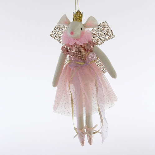 Day Dreaming Fabric Fairy Mouse Doll Ornament-12""
