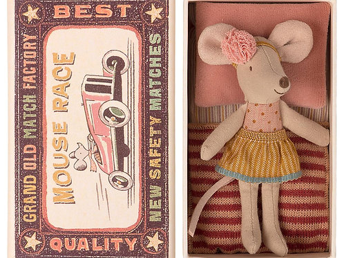 Maileg Little Sister Mouse in Matchbox-Arrives March 5, 2021