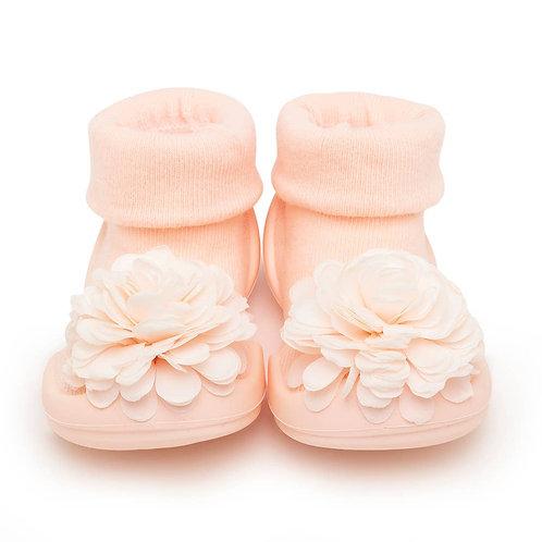 Komuello Sock Shoe-PinkFlower